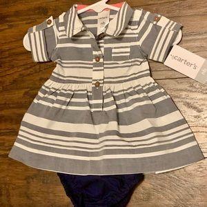 Carter's Newborn Dress w Bloomers